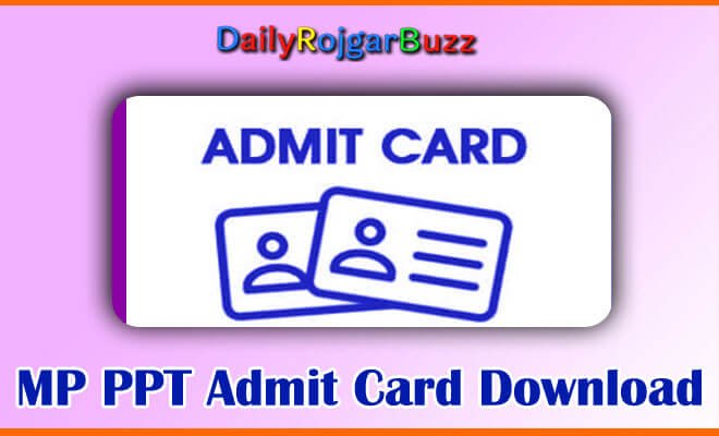 MP Pre Polytechnic Test Admit Card Released