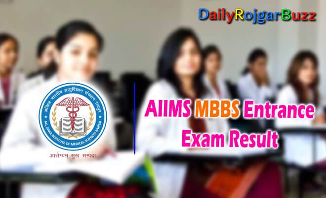 AIIMS MBBS Entrance Result