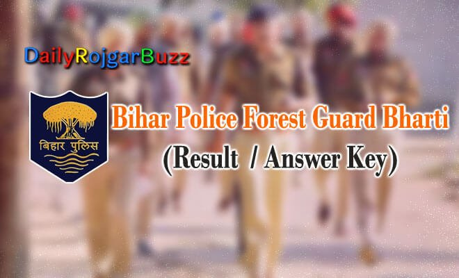 Bihar Police Forest Guard Answer Key