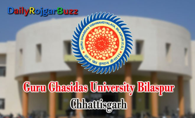 CG Bilaspur University Recruitment