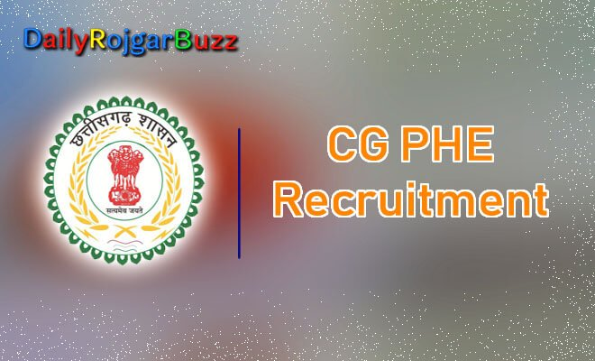 CG PHE Recruitment
