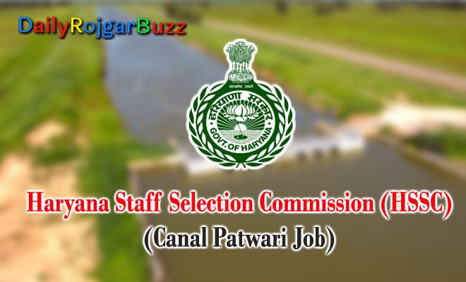 HSSC Canal Patwari Recruitment