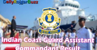 Indian Coast Guard Result AC Group