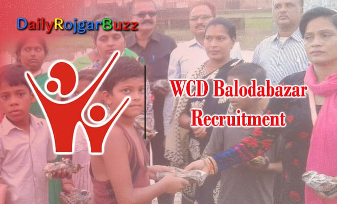WCD Balodabazar Recruitment